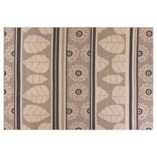 KAS Rugs Vista Landscape Leaf Indoor Outdoor Rug