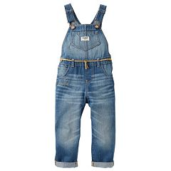 Toddler Girl OshKosh B'gosh® Rip & Repair Embroidered 'Love' Denim Overalls
