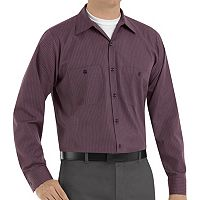 Big & Tall Red Kap Classic-Fit Durastripe Striped Button-Down Work Shirt