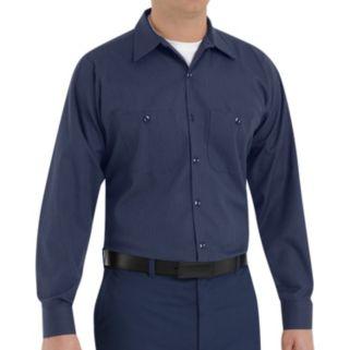 Big & Tall Red Kap Classic-Fit Durastripe Striped Button-Down Work Shirt