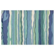 KAS Rugs Harbor Lagoon Striped Indoor Outdoor Rug