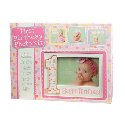 C.R. Gibson First Birthday Photo Kit