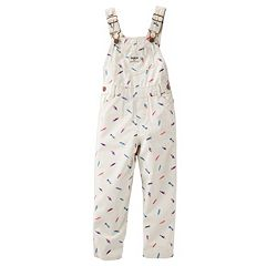 Toddler Girl OshKosh B'gosh® Feather Print Denim Overalls