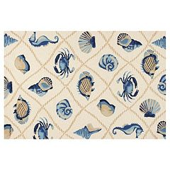 KAS Rugs Harbor Seaside Shells Indoor Outdoor Rug