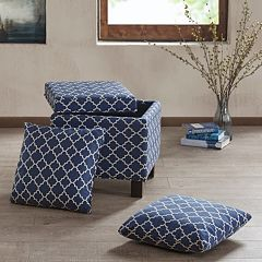 Madison Park Shelley Square Storage Ottoman 3 pc Set