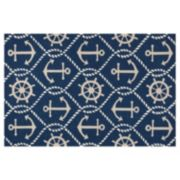 KAS Rugs Harbor Marina Anchor Indoor Outdoor Rug