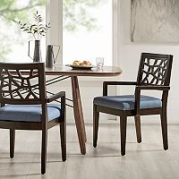 INK+IVY Crackle Arm Chair 2 pc Set