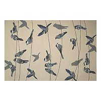 KAS Rugs Harbor Birds on a Wire Indoor Outdoor Rug
