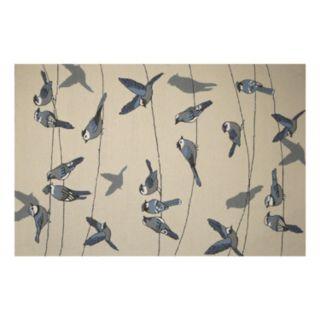 KAS Rugs Harbor Birds on a Wire Indoor Outdoor Rug