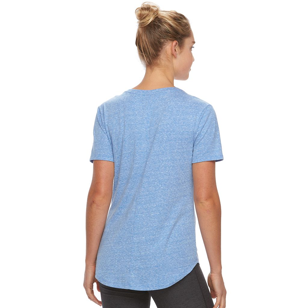 Women's Tek Gear® Easy Nep V-Neck Yoga Tee