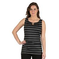 Women's Larry Levine Ruched Splitneck Top