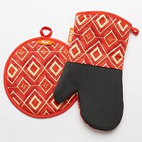 IMUSA Diamond Oven Mitt & Potholder Set