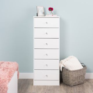 Prepac Astrid 6-Drawer Tall Dresser