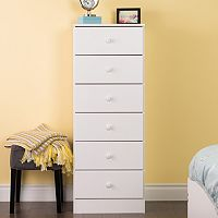 Prepac Astrid 6-Drawer Tall Dresser