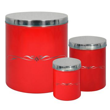 PureLife 3-pc. Red Canister Set