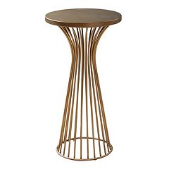 INK+IVY Mercer 30 in Pedestal End Table