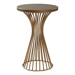 INK+IVY Mercer 24 in Pedestal End Table