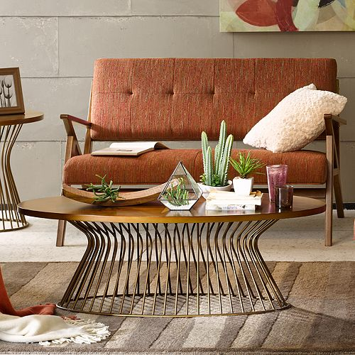 INK+IVY Mercer Mid-Century Modern Coffee Table