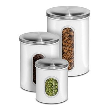 PureLife 3-pc. White Canister Set