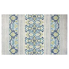 KAS Rugs Donny Osmond Home Escape Serenity Striped Indoor Outdoor Rug