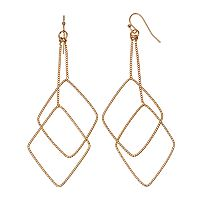 Jennifer Lopez Nickel Free Kite Double Drop Earrings