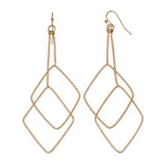 Jennifer Lopez Nickel Free Kite Double Drop Earrings