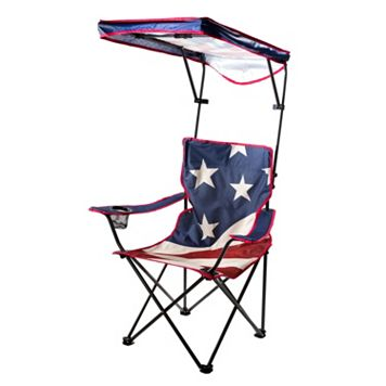Quik Shade US American Flag Canopy Camp Chair