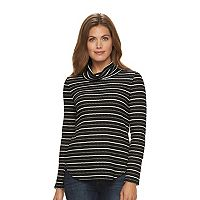 Petite Dana Buchman Striped Textured High-Low Hatchi Tunic