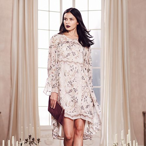 LC Lauren Conrad Runway Collection Floral High-Low Hem Dress - Women's