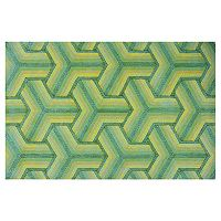 KAS Rugs Donny Osmond Home Escape Connections Geometric Indoor Outdoor Rug