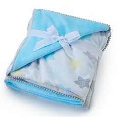 Just Born Velboa Stars Blanket