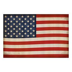 Reflective Art Old Glory Canvas Wall Art