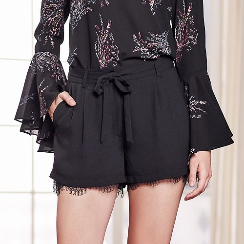 Lauren Conrad Runway Collection Lace-Hem Dress Shorts - Women&39s