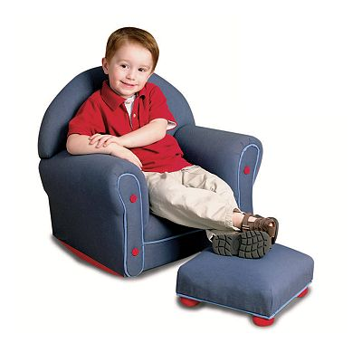 KidKraft Denim Rocker and Ottoman