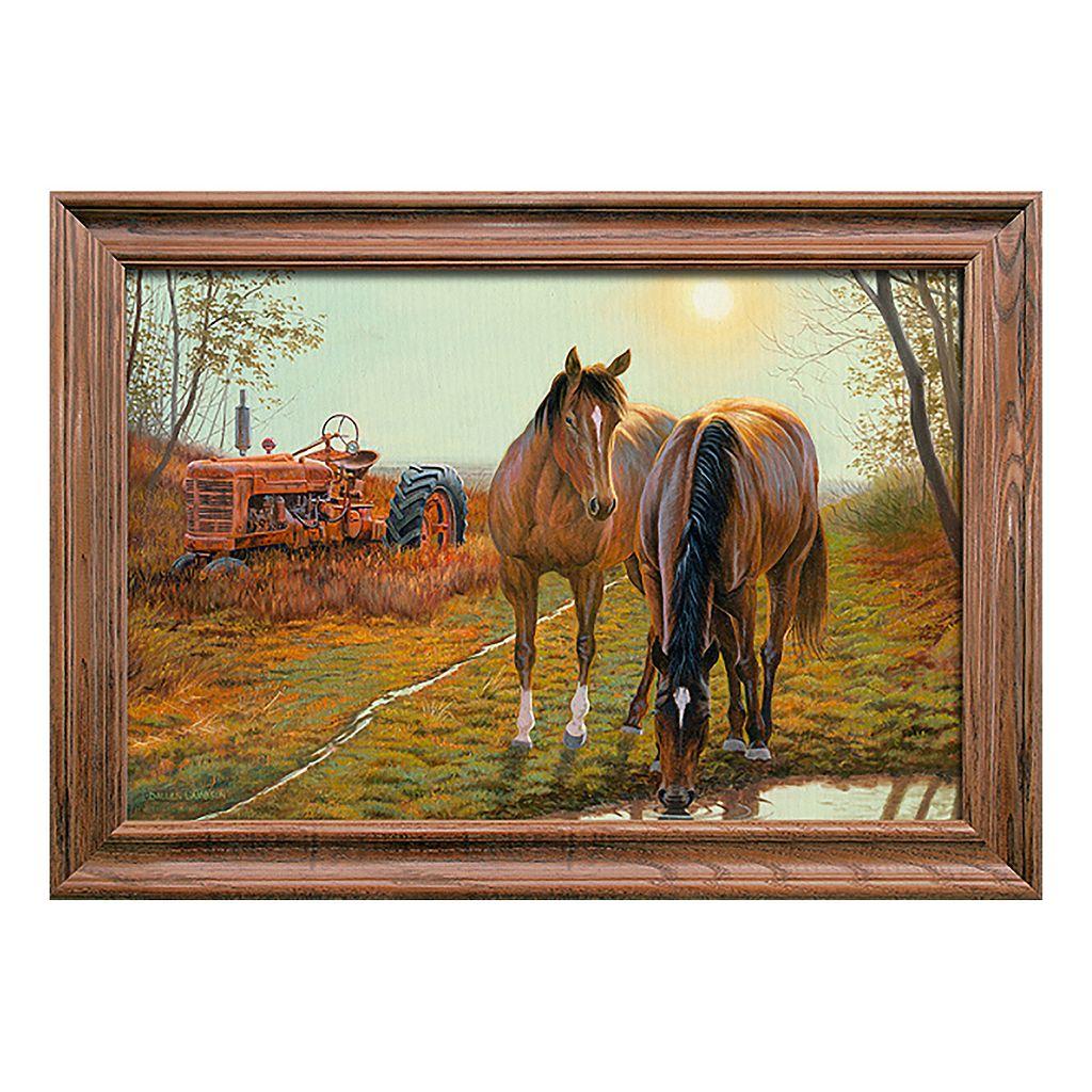 Reflective Art Old Farm Hands Framed Wall Art