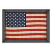 Reflective Art Old Glory Framed Wall Art