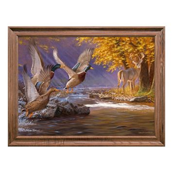 Reflective Art Fowled Ambush Framed Wall Art