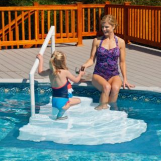 Blue Wave Above-Ground Pool Tiered Steps with Liner Pad