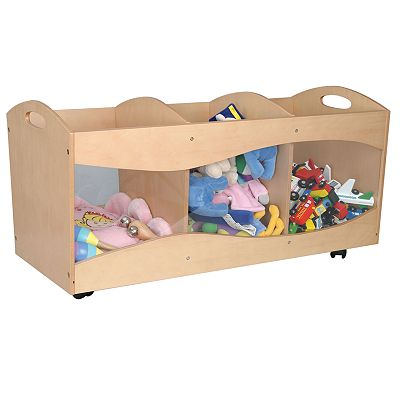 KidKraft See-Through Storage Bins - Natural Finish