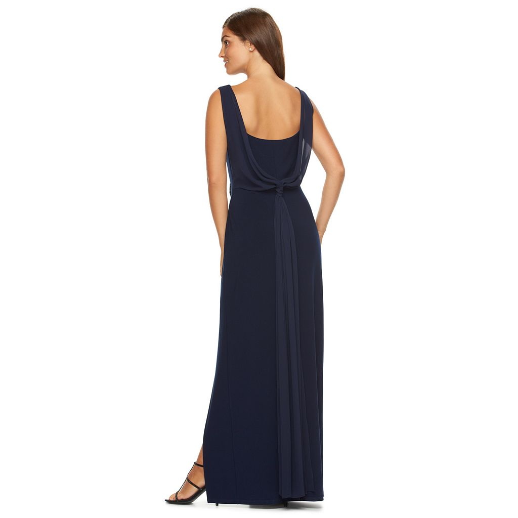 Women's Chaps Embellished Knot-Back Evening Gown