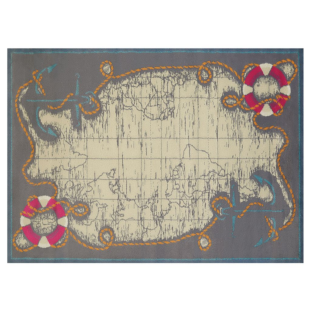United Weavers Regional Concepts Mariner Map Rug