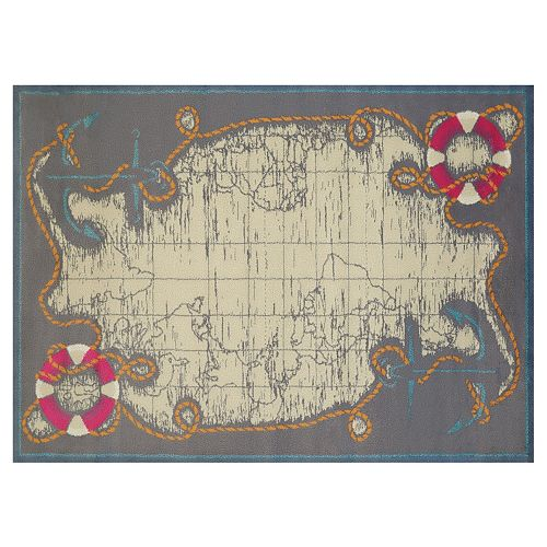 United Weavers Regional Concepts Mariner Map Rug