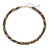 Tri Tone Chain Torsade Necklace