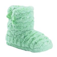 Girls 4-16 Capelli Sequin Faux-Fur Boot Slippers