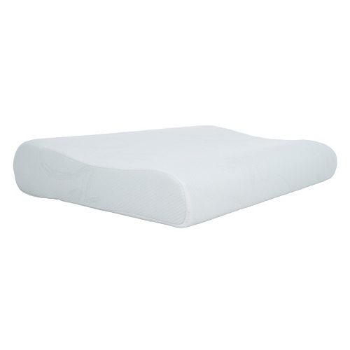 Blue Memory Foam Contour Bedroom Pillow