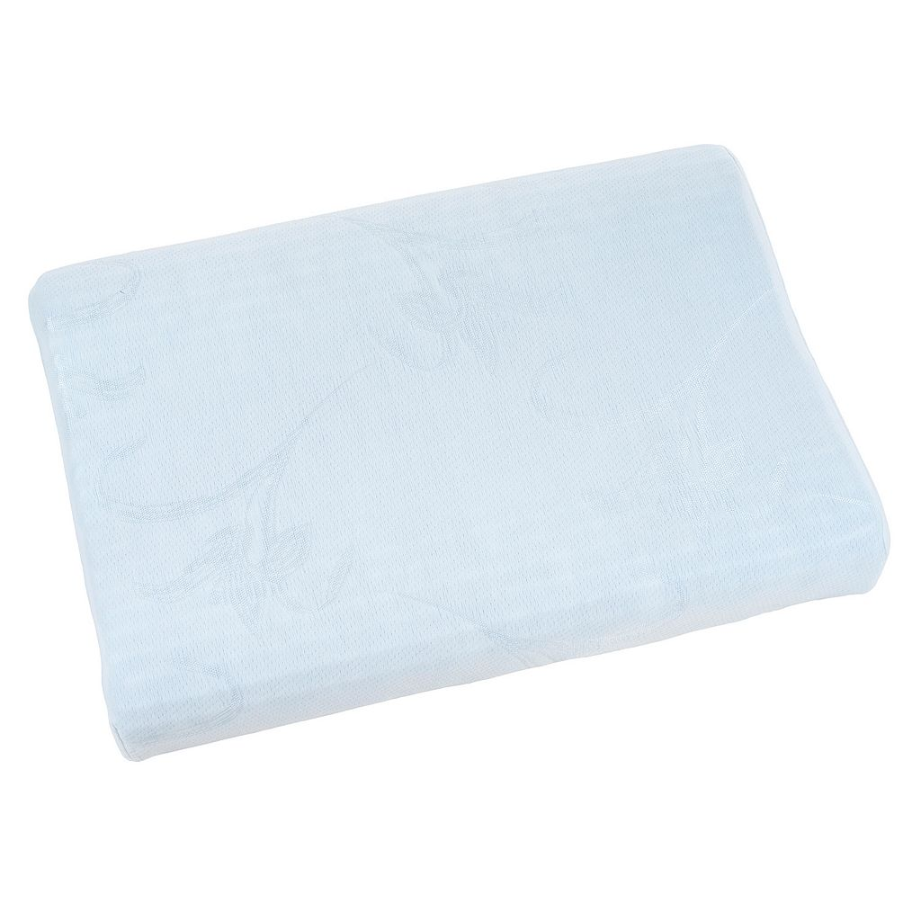 Blue Memory Foam Adjustable Height Bedroom Pillow