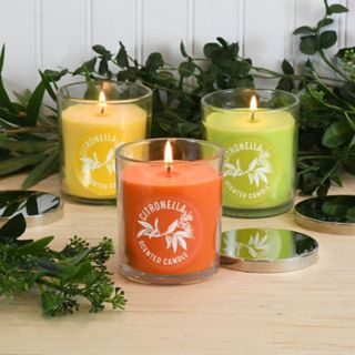 "LumaBase 2.5"" Citronella Mason Jar Candle 6-piece Set"