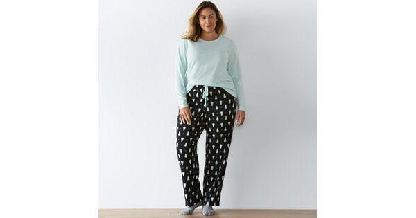 Plus Size Sonoma Goods For Life Pajamas Knit