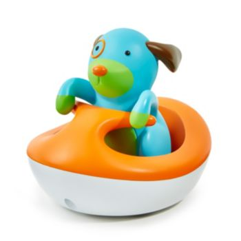 Skip Hop Zoo Rev-Up Dog Wave Rider Bath Toy