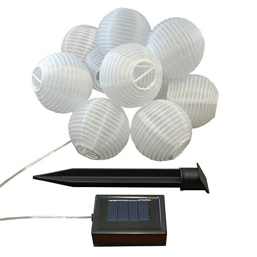 "LumaBase 3"" Solar Lantern 10-piece Set"